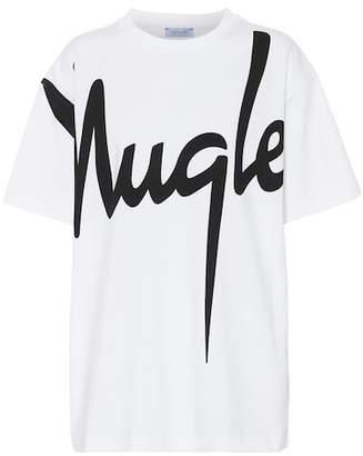 Thierry Mugler Printed cotton T-shirt