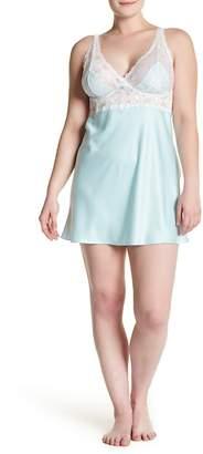 Felina Goddess Satin & Lace Chemise (Plus Size)