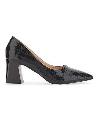 Amina Raid Block Heel Court Shoes