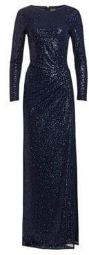 Teri Jon by Rickie Freeman Ruched Sequin Gown
