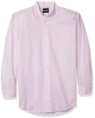 Wrangler Men's Tall Size Tough Enough to Wear Pink Button Front Shirt
