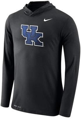 Nike Men's Kentucky Wildcats Dri-Blend Hooded Long Sleeve T-Shirt
