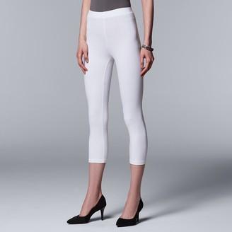 Vera Wang Simply Vera Cotton Capri Leggings