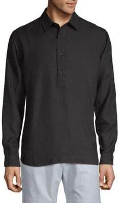 Orlebar Brown Linen Rugby Shirt
