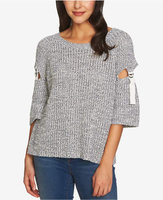 1 STATE 1.STATE Cutout-Sleeve Sweater