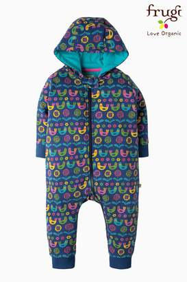 Next Girls Frugi Blue Scandi Birds Snuggle Suit
