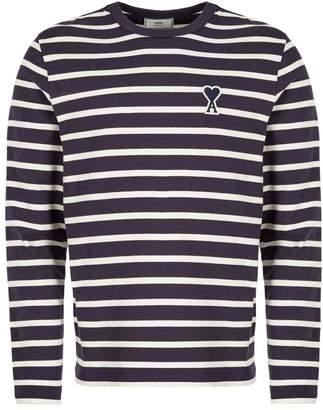Long Sleeve T-Shirt Off White / Navy