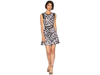 Juicy Couture Knit Imperial Leopard Jacquard Dress Women's Dress