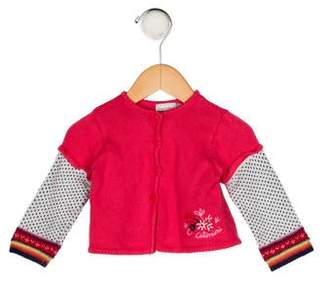 Catimini Girls' Knit Embroidered Cardigan