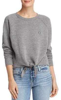 Spiritual Gangster Give Love Tie-Front Sweatshirt