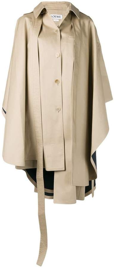 cape style trench coat