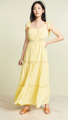 The Line Up Button Front Maxi Dress