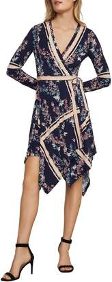 BCBGMAXAZRIA Isabella Asymmetrical Wrap Dress