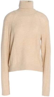 Ganni Cable-Knit Merino Wool-Blend Turtleneck Sweater