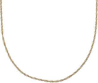 STERLING SILVER CHAINS Gold Over Sterling Silver 18 Singapore Chain