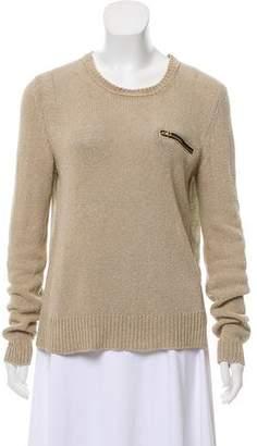 Celine Linen Long Sleeve Top