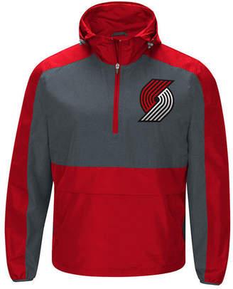 G-iii Sports Men's Portland Trail Blazers Leadoff Lightweight Half-Zip Jacket