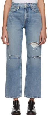 Rag & Bone Blue Ruth Super High-Rise Jeans