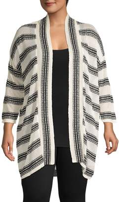 Jones New York Striped Lounge Cardigan