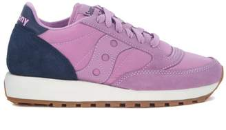 Saucony Jazz Blue And Lilac Suede And Nylon Sneaker