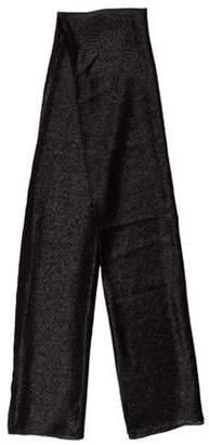 Saint Laurent Metallic Cashmere-Blend Scarf Black Metallic Cashmere-Blend Scarf