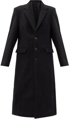 Wardrobe.Nyc Wardrobe.nyc - Single Breasted Virgin Wool Felt Overcoat - Womens - Black