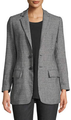 Current/Elliott The Calla Houndstooth Check Blazer