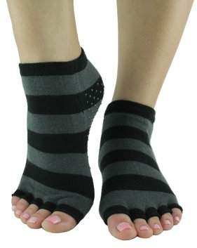 Toezies Sassy Stripe Toe-less Grip Socks (M/L)
