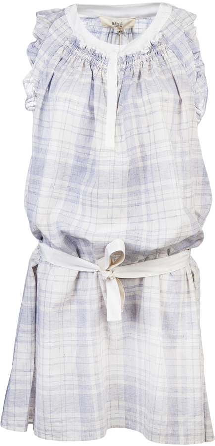Vanessa Bruno Voile De Coton Carreaux Vintage Dress