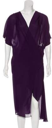 Barbara Bui Draped Silk Dress