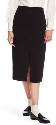 Court & Rowe Front Slit Crepe Pencil Skirt