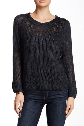 Inhabit Silk-Linen Blend Crew Neck Sweater