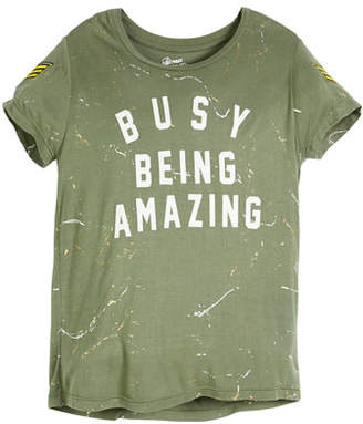 Flowers by Zoe Busy Being Amazing Paint-Splatter Tee, Size S-XL