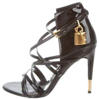 Tom Ford Patent Leather Padlock Sandals