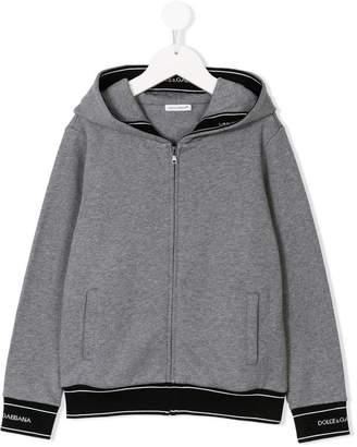 Dolce & Gabbana logo zipped hoodie