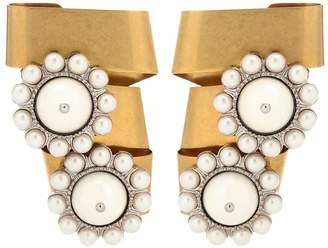 Miu Miu Embellished clip-on earrings