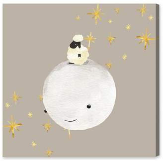 Oliver Gal Sheep and Moon Best Friends Canvas Art