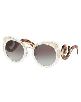 Prada Gradient Butterfly Scroll Sunglasses, Ivory $520 thestylecure.com