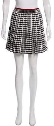 Moncler Gingham Mini Skirt