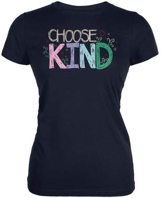 Old Glory Anti-Bully Choose Kind Sketch Juniors Soft T Shirt X-LG