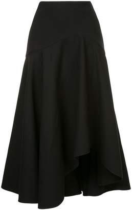 Alexander McQueen asymmetric flared skirt