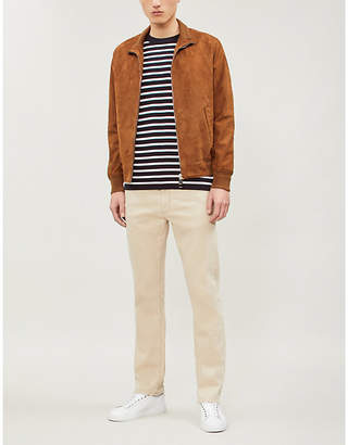 Canali Zipped suede bomber jacket