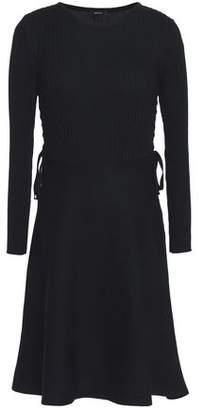 Raoul Ribbed-Paneled Lace-Up Cotton Dress