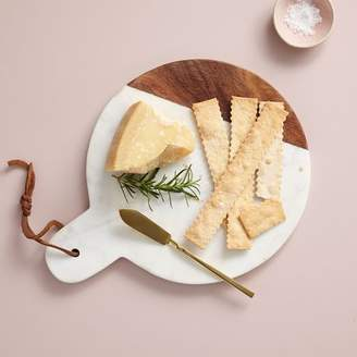 west elm Marble + Wood Cutting Board - Paddle