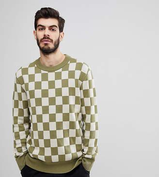 Nudie Jeans Elof checkerboard jumper