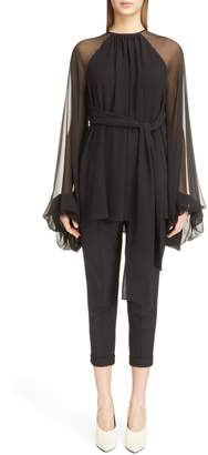 Saint Laurent Silk Georgette Tunic