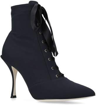 Dolce & Gabbana Lory Lace-Up Ankle Boots 90