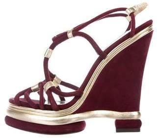 Dolce & Gabbana Platform Suede Wedges