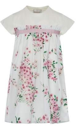 Moncler Mini Me Floral Woven & Jersey Dress, Size 8-14