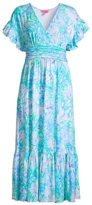 Lilly Pulitzer Jessi Floral Midi Dress